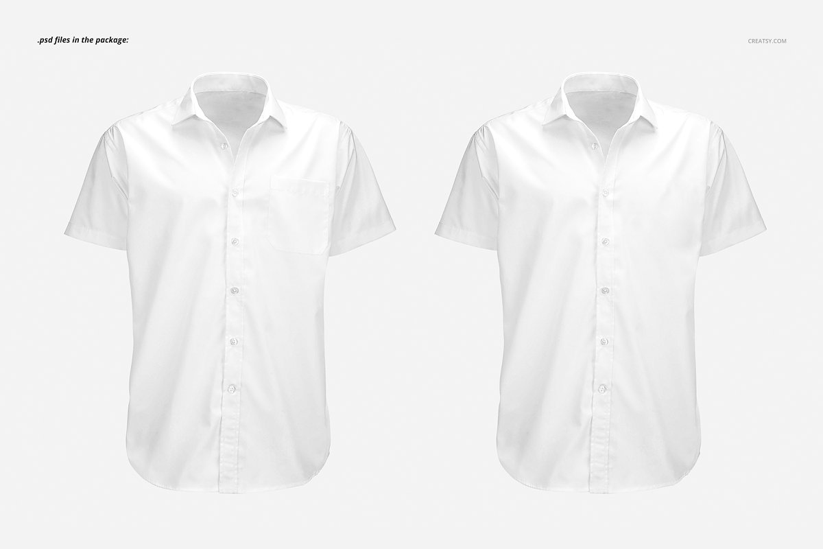 Short Sleeve Dress Shirt Mockup Creative Product Mockups
