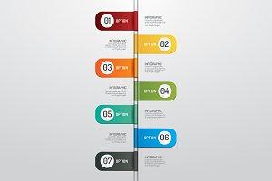 Modern design time line style infogr