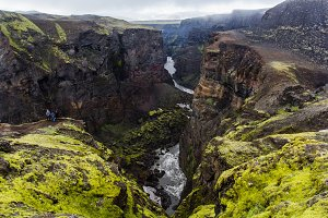 Canyons in Iceland