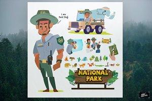Park staff - vector illustration