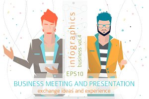 Infographics: Business Meeting