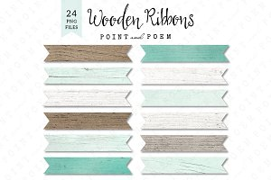 Wood Ribbons - Textured Rustic
