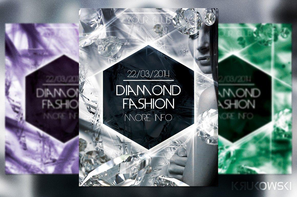 Diamond Fashion Flyer Flyer Templates Creative Market