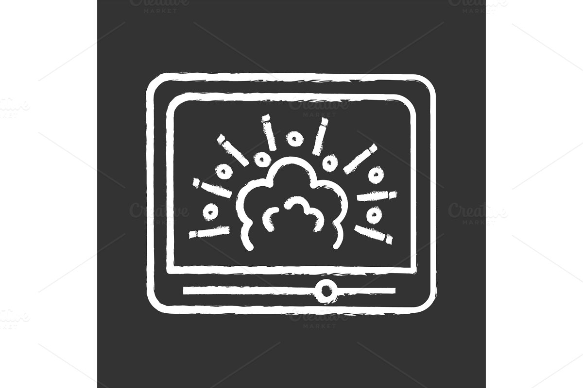 Visual effects chalk icon
