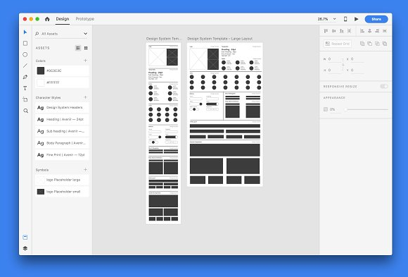 Design System Template | Adobe XD