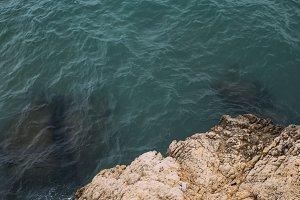 Landscape. Rocks by the sea