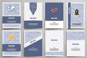 Set of brochure design templates