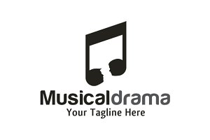 Musical Drama Logo Template