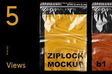 ZipLock Bag Mockup