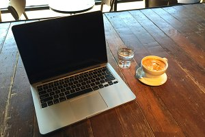 Coffe and Laptop UI Placeholder