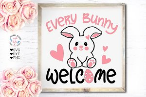 Every Bunny Welcome Cut File