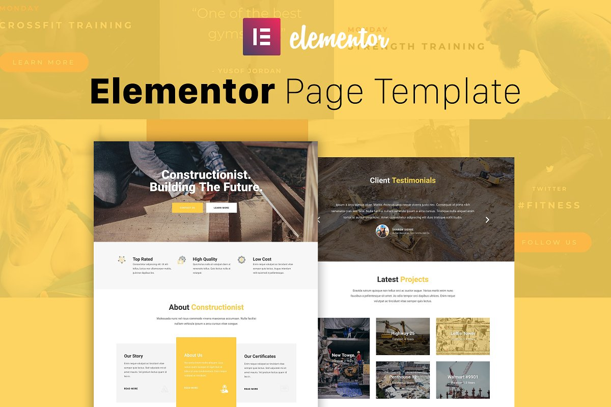 Constructionist - Elementor Template ~ Landing Page