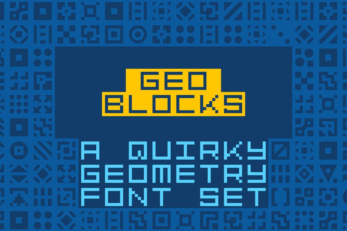 GeoBlocks-a geometric font set!