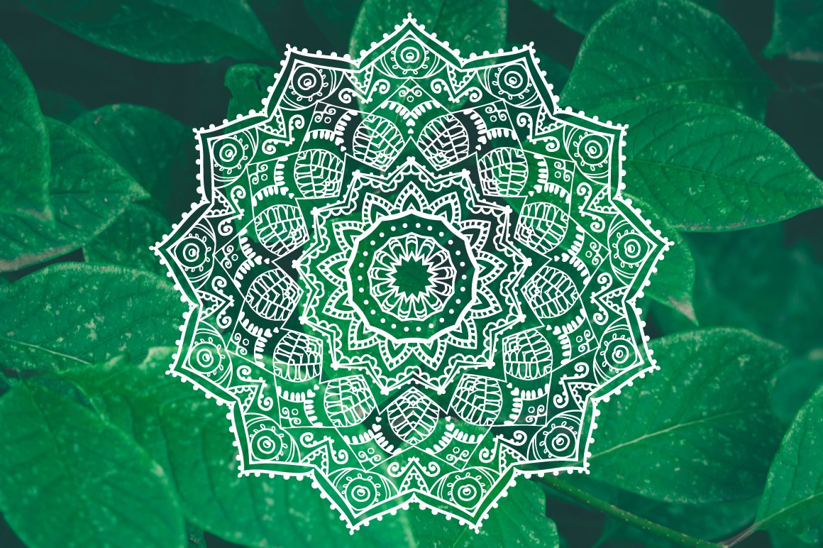 Mandalas Ornament Set 8 Vector Illustrations Creative Market