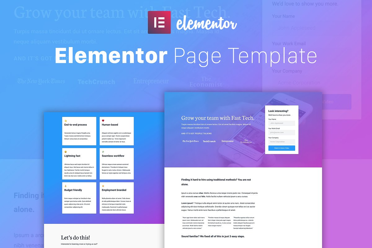 Fast Tech - Elementor Template ~ Landing Page Templates