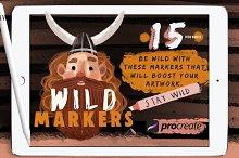 Wild Markers Procreate Brushes