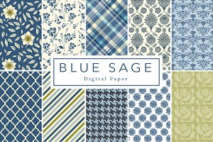 Blue Sage Digital Paper