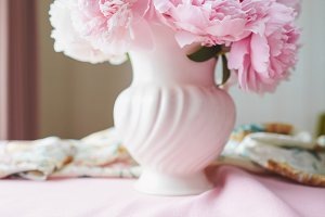 Floral Still life Pink Peonies