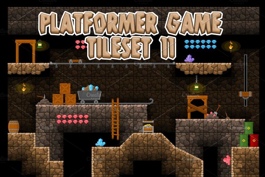 Platformer Game Tile Set 11