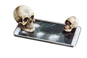 Skull on cracked phone.jpg