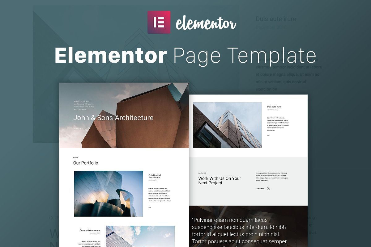 The Architect Elementor Template Website Templates