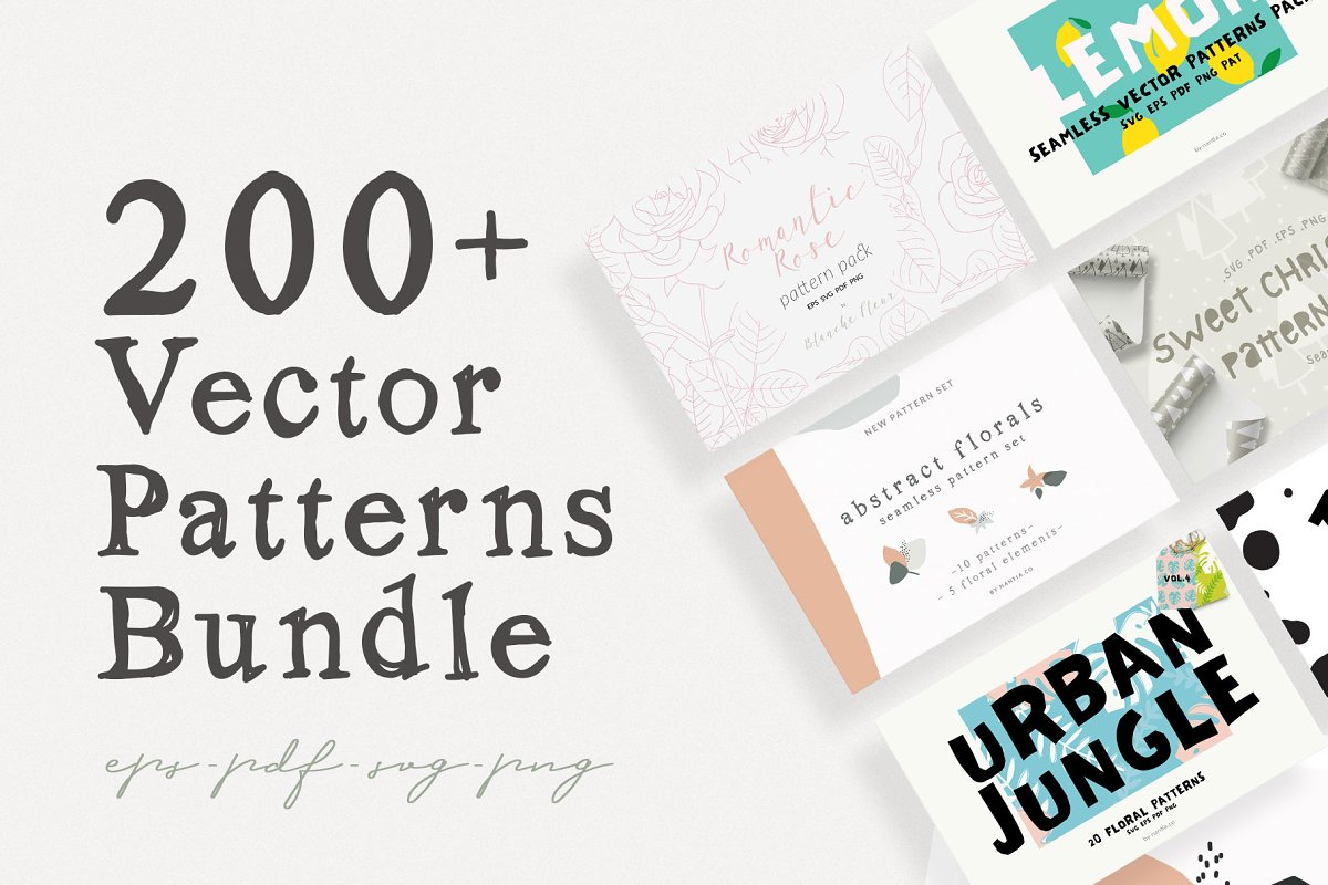 200 Vector Patterns Bundle in Patterns - product preview 8