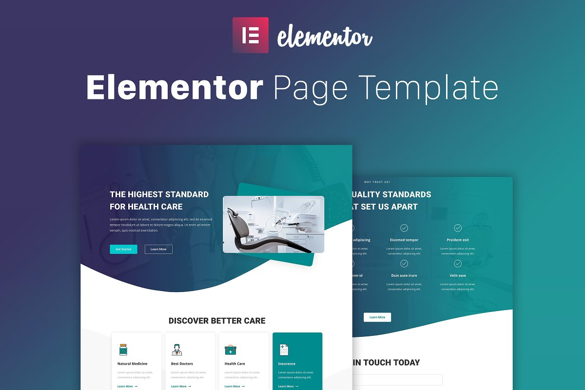Hello Doctor - Elementor Template ~ Landing Page Templates