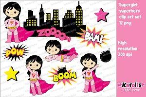 Supergirl - clip art set