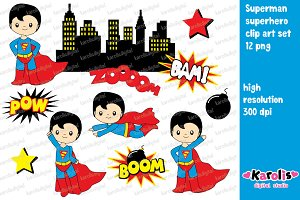 Superman - clip art set