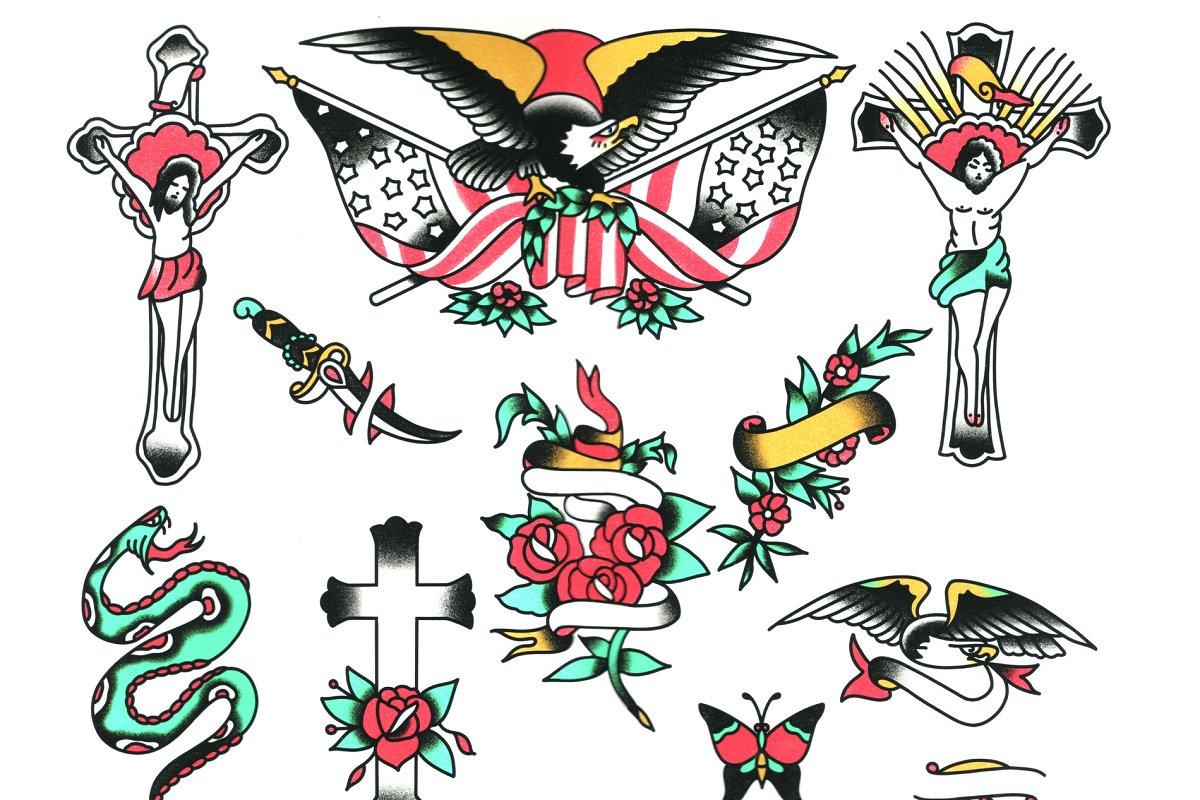 Traditional Tattoo Flash 25+ Designs ~ Illustrations ~ Creative Market