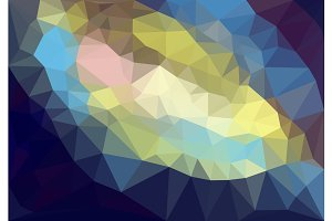 Colorful polygonal background