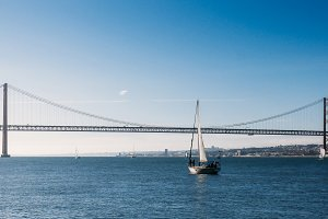 Sailboats on Tagus River, Lisbon