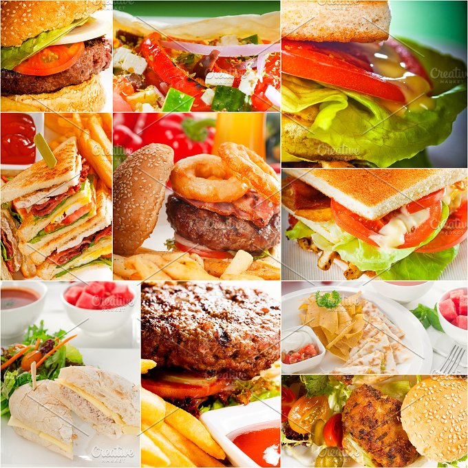 burgers and sandwiches collage 3.jpg - Food & Drink