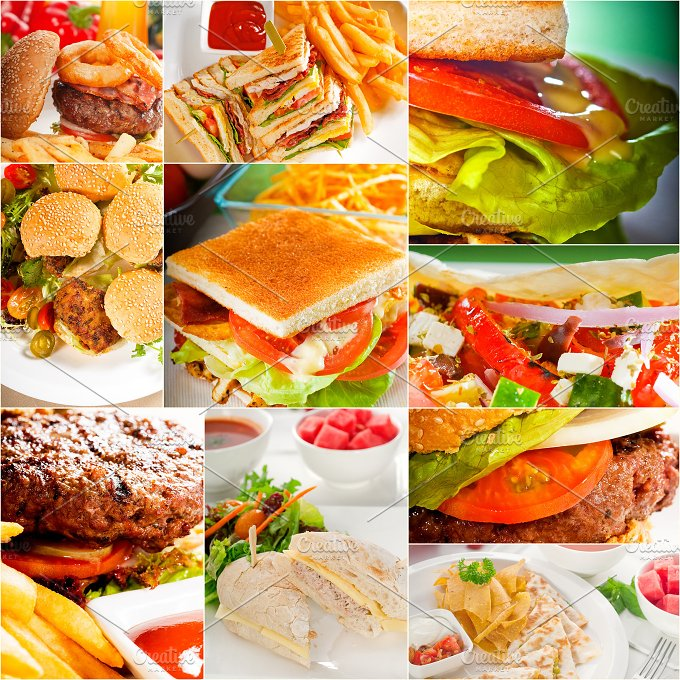 burgers and sandwiches collage 1.jpg - Food & Drink