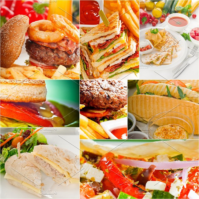 burgers and sandwiches collage 9.jpg - Food & Drink