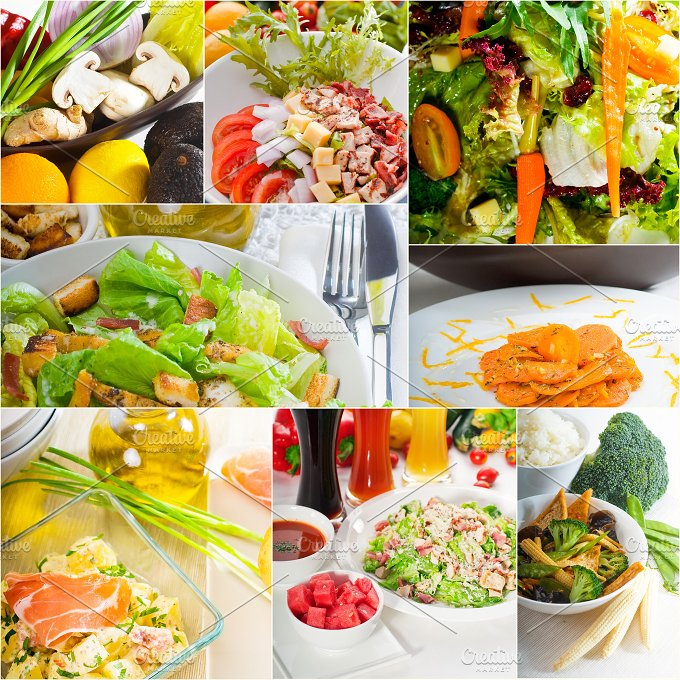 mixed salad collage 3.jpg - Food & Drink