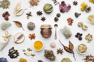 Herbal medicine remedies.