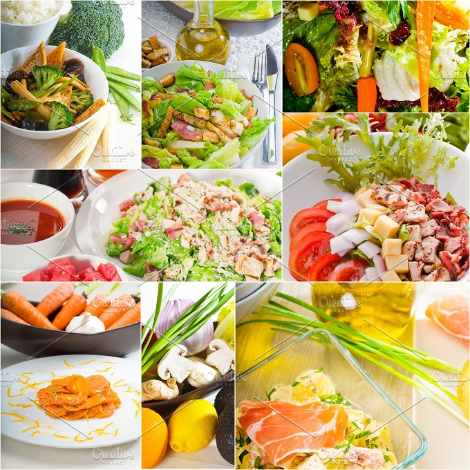 mixed salad collage 7.jpg - Food & Drink