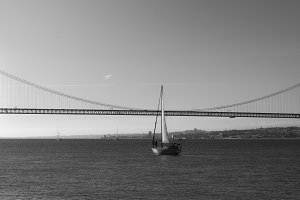Sailboat on Tagus, Lisbon