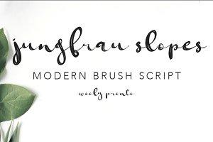 Jungfrau Slopes Modern Brush Font