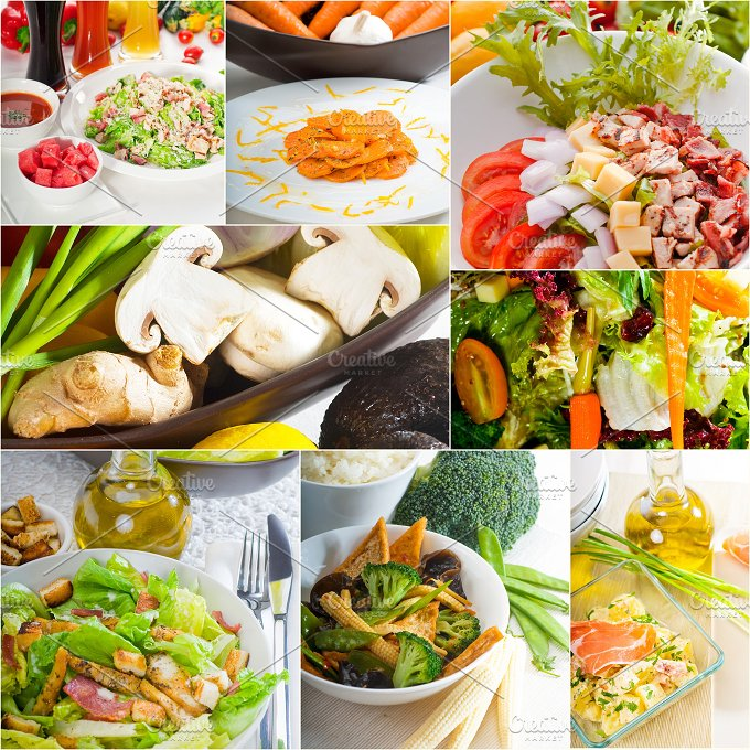 mixed salad collage 1.jpg - Food & Drink