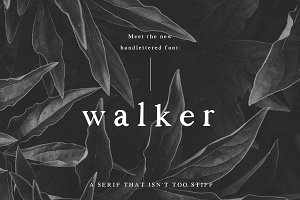 Walker: a Handlettered Serif