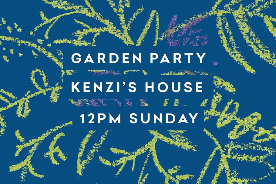 Garden Party Oil Pastel Botanicals