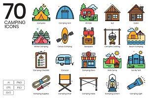 Camping Icons | Vivid Series