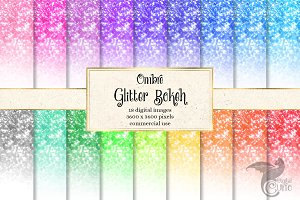 Ombre Glitter Bokeh Backgrounds
