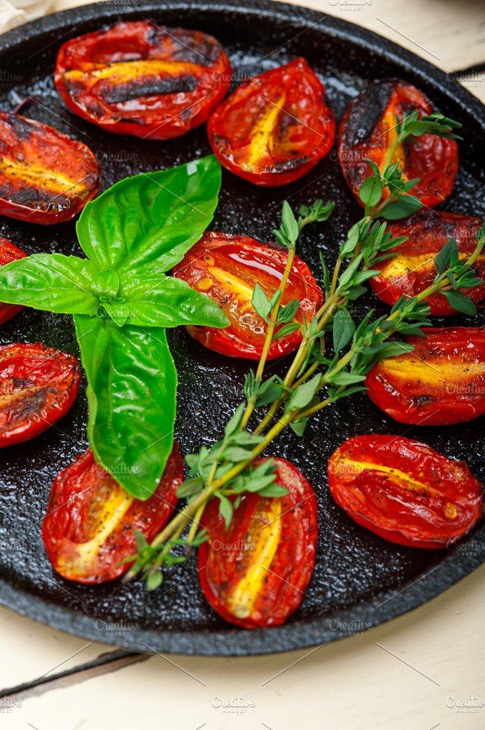 baked cherry tomatoes 009.jpg - Food & Drink