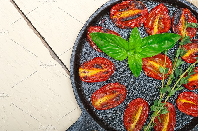 baked cherry tomatoes 037.jpg - Food & Drink