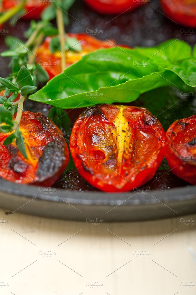 baked cherry tomatoes 050.jpg - Food & Drink