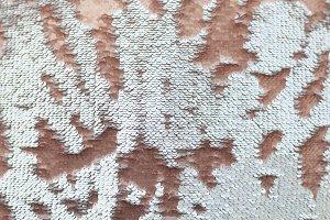 Sequins close-up macro. Abstract bac
