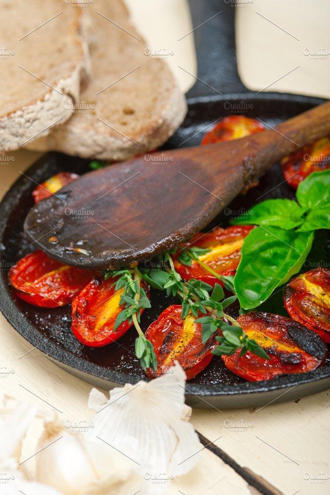 baked cherry tomatoes 069.jpg - Food & Drink